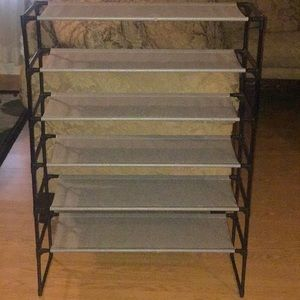 Shoe rack fits in your closet. Ships next day